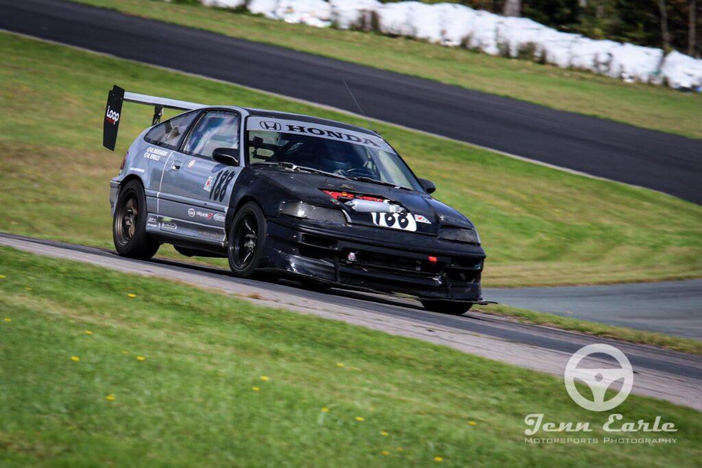 K20A Swapped CRX at Atlantic Motorsport Park. Circa summer 2020